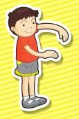 Boy standing — Stock Vector
