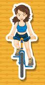 Riding bike — Stock Vector