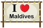 Maldives — Stock Vector