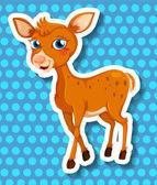 Cute deer — Stock Vector