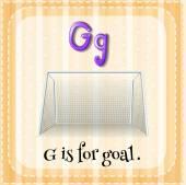 Flashcard lettre G est pour but. — Vecteur