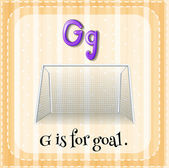Kartičky písmeno G je pro cíl. — Stock vektor
