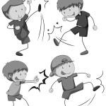 Boy fighting — Stock Vector #75619365