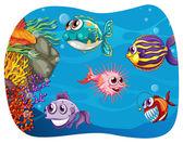 Potwór morski — Wektor stockowy
