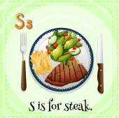 Alphabet S — Stock Vector