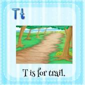 Trail — Stockvector