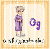 Großmutter — Stockvektor