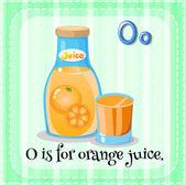 Orangensaft — Stockvektor