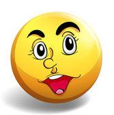 幸せそうな顔 — ストックベクタ