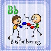 Brief b — Stockvektor
