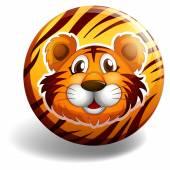 Tiger badge — Stock Vector