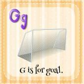 Alfabet g — Stockvector