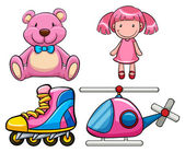 Pink toys — Stock Vector