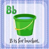 Flashcard lettera B è per secchio — Vettoriale Stock