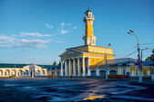 Fire town in Russian tower Kostroma — Stock Photo