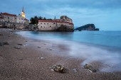 Evening in Budva old town. — Stock Photo