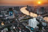 Business distinct  in Bangkok, — Stock Photo