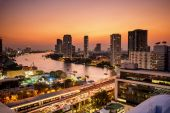 Evening in Bangkok — Foto Stock