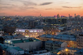 Moscow skyline at the sunset. — Stok fotoğraf
