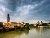 Verona from Ponte Pietra. Italy — Stock Photo