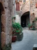 Narrow medieval street — Stock Photo