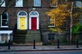 Dublin doors — Stock Photo