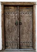 Ancient wooden door — Stock Photo