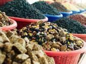 KOZINAKI and nuts at  market. — Stock Photo