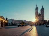 Sunrise in Krakow. Poland — Stock Photo