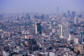 View to Bangkok skyline from 59 floor of the Lebua At State Tower — Stock Photo
