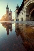 Sunrise in Krakow. Poland — Stock Photo