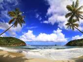 Beautifull beach in Dominica — Stock Photo