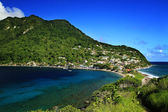 Scotts Head fishing village in Dominica — Stock Photo