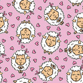 Funny baby pattern. — Stock Vector