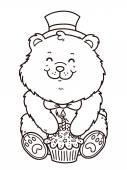 Happy birthday bear — Stock Vector