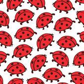 Simple cute ladybugs — Stock Vector