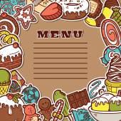 Sweet menu. — Stock Vector
