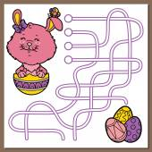 Easter bunny game. — Stock Vector