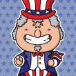 Funny Uncle Sam Wants You — Stock Vector #67373589