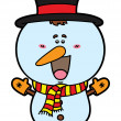 Funny Christmas Snowman. — Stock Vector #67951617