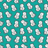 Baby bears toys pattern. — Stock Vector
