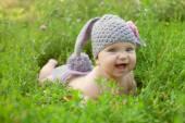 Baby as a bunny or sheep  — Zdjęcie stockowe