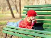 Cabrito con aire libre de la tecnología — Foto de Stock