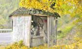 Old fountain on autumn time — Stock Photo