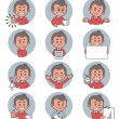 Flat people icons with business characters. — Stock Vector #61873681