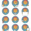 Flat people icons with business characters. — Stock Vector #61873691