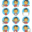 Flat people icons with business characters. — Stock Vector #61873695