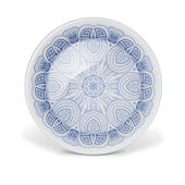 Decorative plate with round lace pattern — Stock Photo