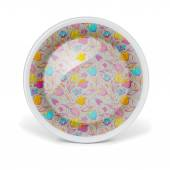 Christmas decorative plate with floral art pattern — Stock Photo