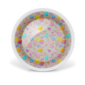 Декоративная тарелка Рождество с узором цветочного искусства — Стоковое фото